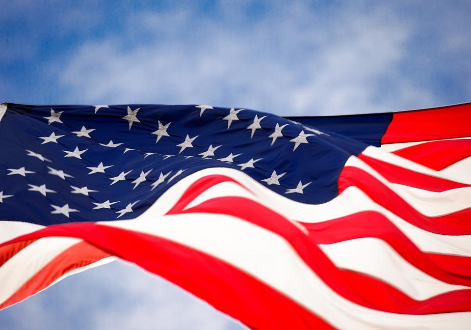Bandera de Estados Unidos,viajar a Estados Unidos en 2021
